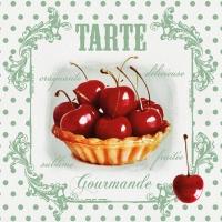 Servietten 25x25 cm - Red Cherries