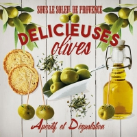 Servietten 25x25 cm - Delicious Olives