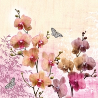 Servietten 25x25 cm - Orchids Orient
