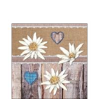 Servietten 25x25 cm - Edelweiss On Wood