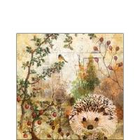 Servietten 25x25 cm - Autumn Hedgehog
