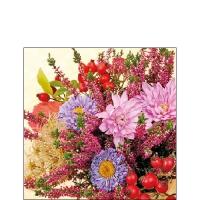 Servietten 25x25 cm - Autumn Flowers