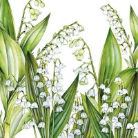 Servietten 25x25 cm - Sweet Lily