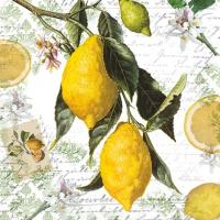 Servietten 25x25 cm - Lemon
