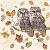 Servietten 25x25 cm - Owl Couple