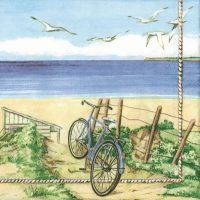 Servietten 33x33 cm - Beach Bicycle