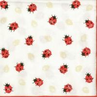Servietten 33x33 cm - Ladybirds Creme