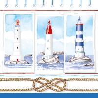 Servietten 33x33 cm - Lighthouses