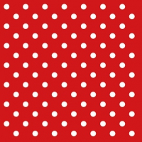 Servietten 33x33 cm - Dots Red