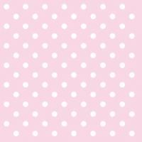 Servietten 33x33 cm - Pastel Dots Rose