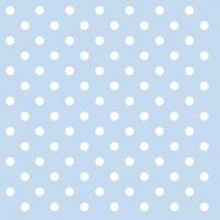 Servietten 33x33 cm - Pastel Dots Blue