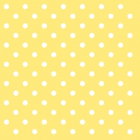 Servietten 33x33 cm - Dots Yellow
