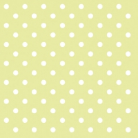 Servietten 33x33 cm - Dots Green