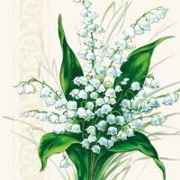Servietten 33x33 cm - Sweet White Bells