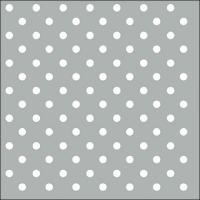Servietten 33x33 cm - Dots Grey