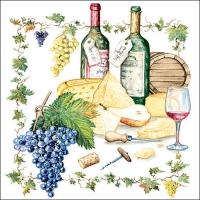 Lunch Servietten Wine And Cheese