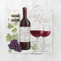 Servietten 33x33 cm - Vino Rosso