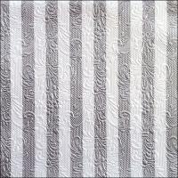 Servietten 33x33 cm - Elegance Stripes Silver