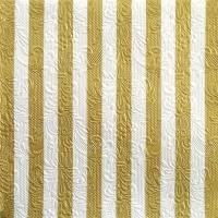 Servietten 33x33 cm - Elegance Stripes Gold/White