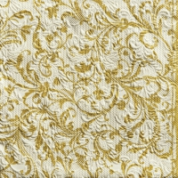 Servietten 33x33 cm - Elegance Damask Cr/Gold