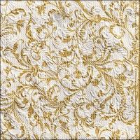 Servietten 33x33 cm - Elegance Damask White/Gold