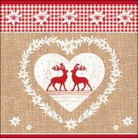Servietten 33x33 cm - Deer Love Nature