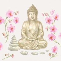 Servietten 33x33 cm - Buddha