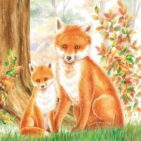 Lunch Servietten FAMILY FOX