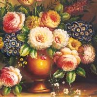 Servietten 33x33 cm - Classic Bouquet