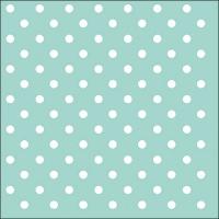 Servietten 33x33 cm - Dots Aqua