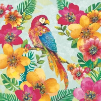 Servietten 33x33 cm - Tropical Parrot