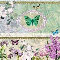 Servietten 33x33 cm - Butterfly Medaillon
