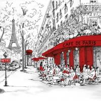 Lunch Servietten Joli Paris