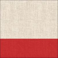 Servietten 33x33 cm - Linen Red