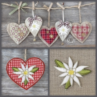 Servietten 33x33 cm - Edelweiss Decorations