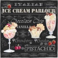 Lunch Servietten Ice Cream Black