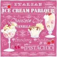 Lunch Servietten Ice Cream Rose