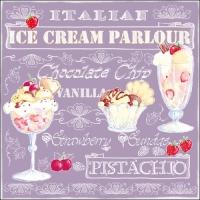 Lunch Servietten Ice Cream Lilac
