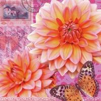 Servietten 33x33 cm - Summer Dahlia