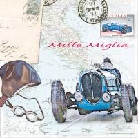 Servietten 33x33 cm - Mille Miglia