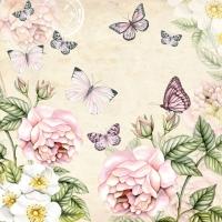 Servietten 33x33 cm - Botanical Cream