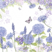 Servietten 33x33 cm - Purple Wildflowers