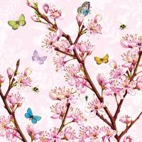 Servietten 33x33 cm - Blütenrose