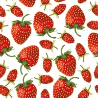 Servietten 33x33 cm - Strawberries
