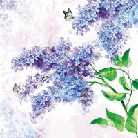 Servietten 33x33 cm - lilac
