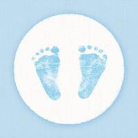 Servietten 33x33 cm - Baby Steps Boy
