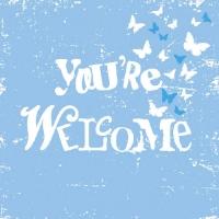 Lunch Servietten You´re Welcome Blue