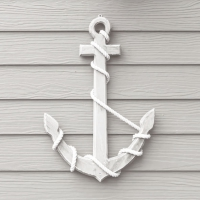 Servietten 33x33 cm - Wooden Anchor White