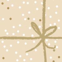 Servietten 33x33 cm - Wrapping Gold