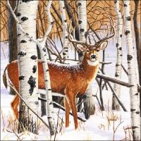 Servietten 33x33 cm - Hirsch im Wald